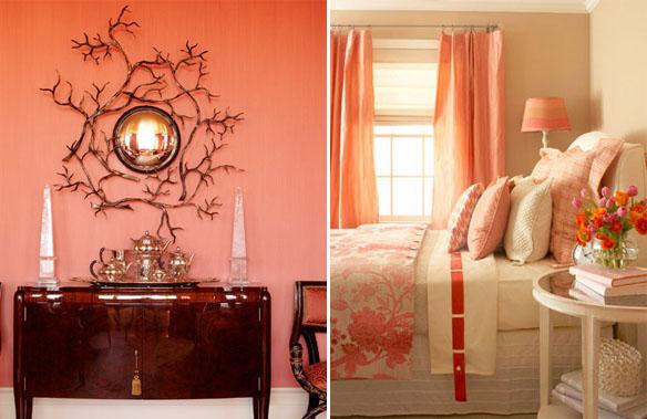 Фотообои для персиковых стен