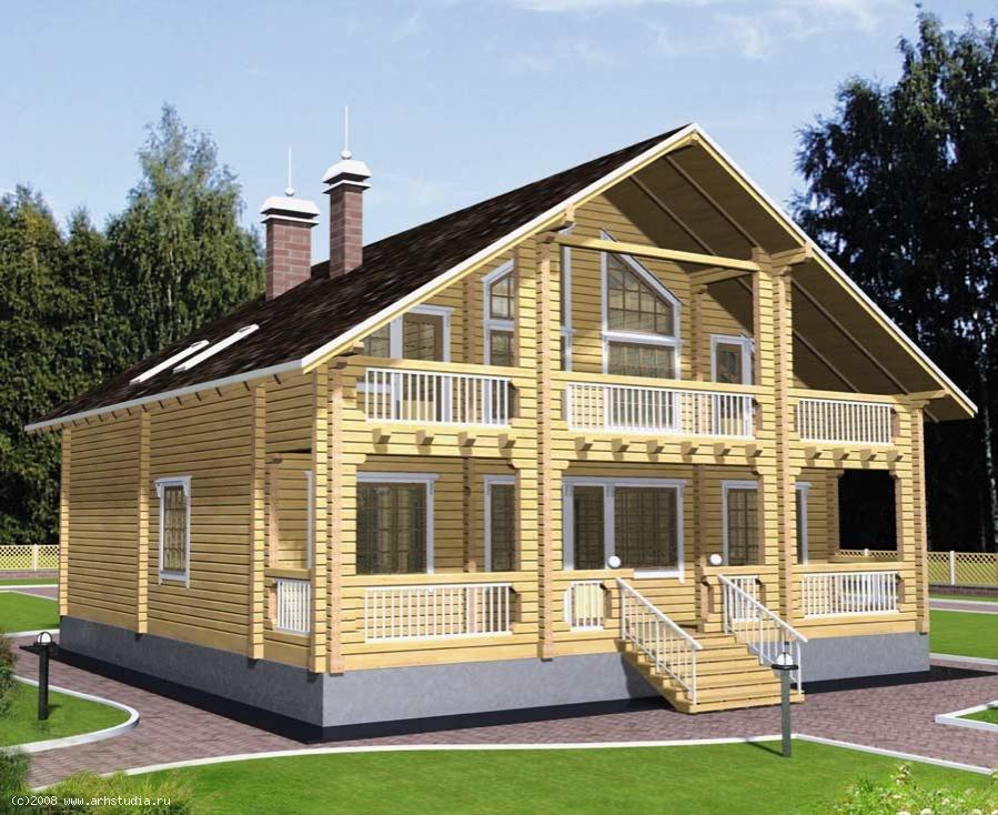 """Проекты деревянных домов бесплатно """" современный дизайн."""