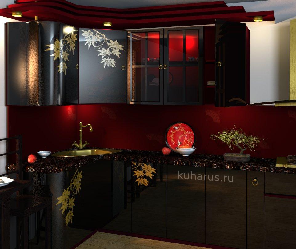 Дизайн кухни в китайском стиле