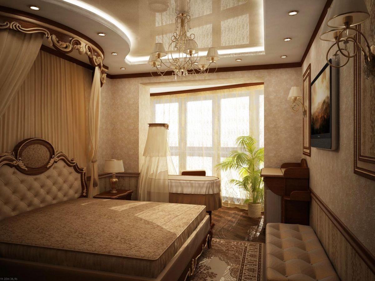 Создать интерьер для объединенного балкона с комнатой..
