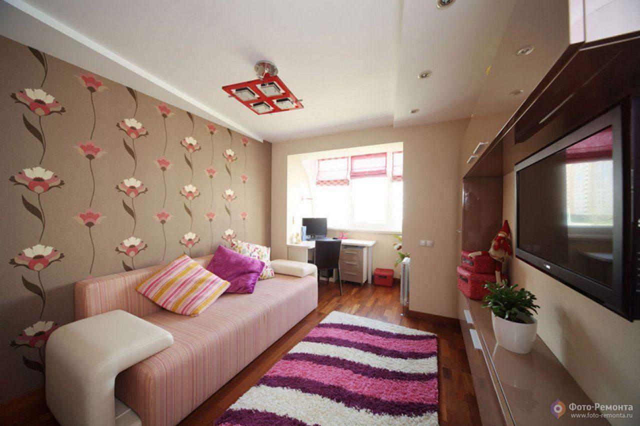 """Дизайн маленькой комнаты с балконом фото """" современный дизай."""