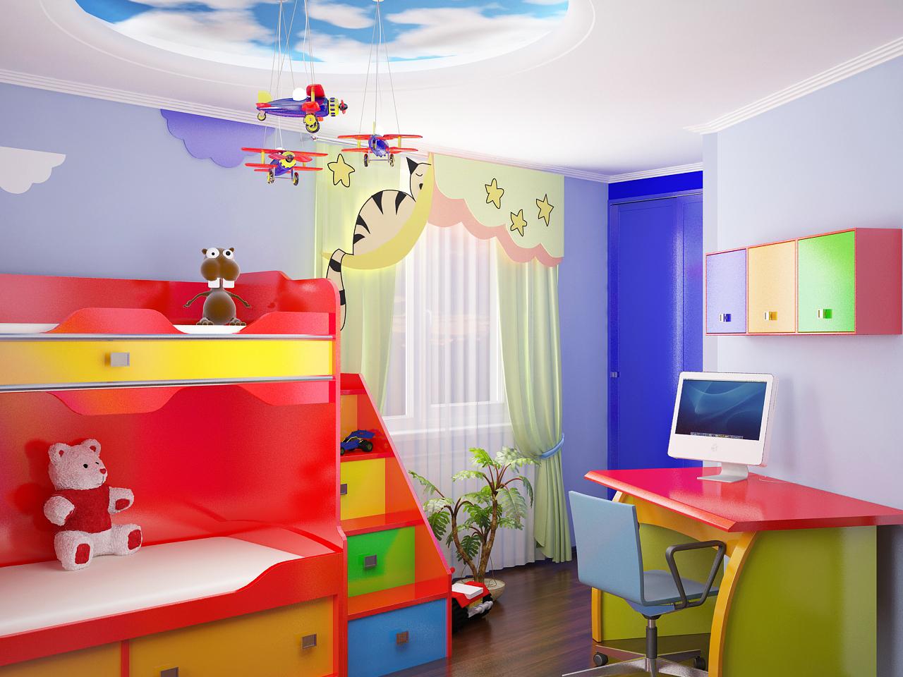 Детская для мальчика дизайн интерьер