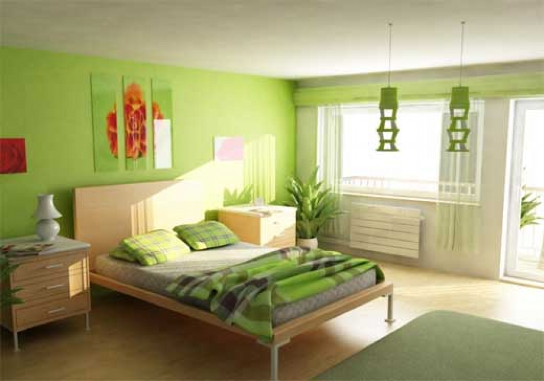 Как сделать зеленую комнату