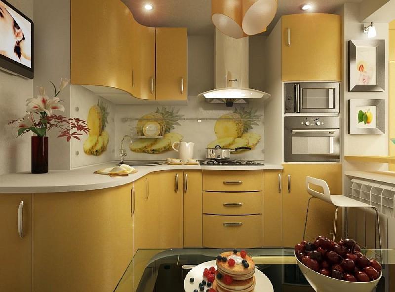 Как красиво сделать ремонт на кухне маленькой фото