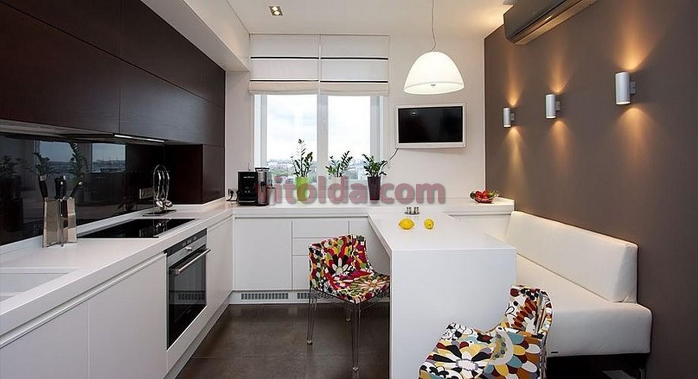 Фото дизайна кухни 14 квм