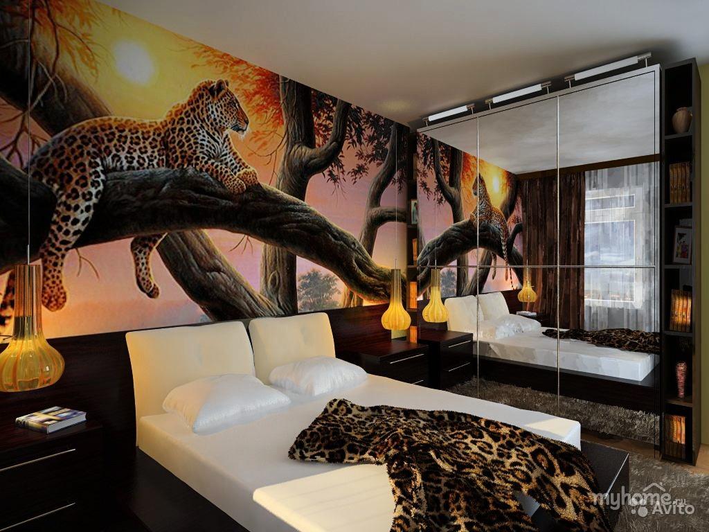 Фотообои 3д для спальни фото в интерьере для маленьких комнат