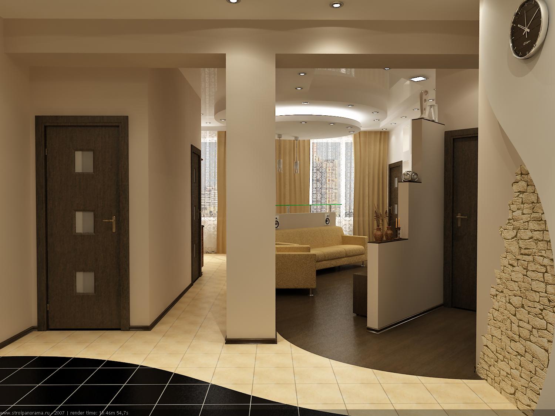 Дизайн прихожей в гостинной