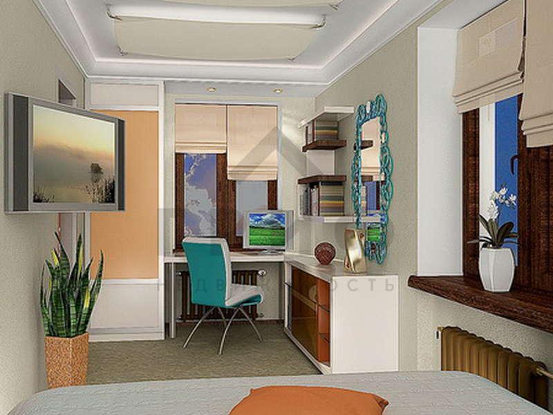 Дизайн комнаты 17 квм спальня детская