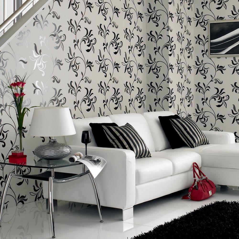Обои для комнаты с белой мебелью