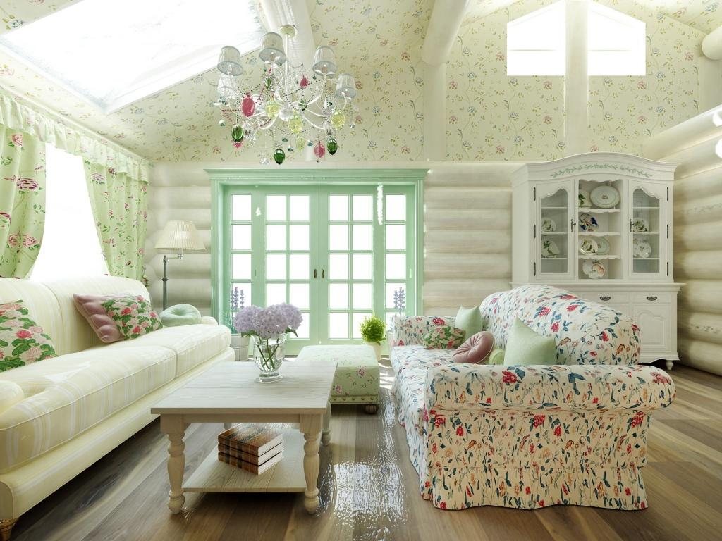 Дизайн загородного дома внутри в стиле прованс