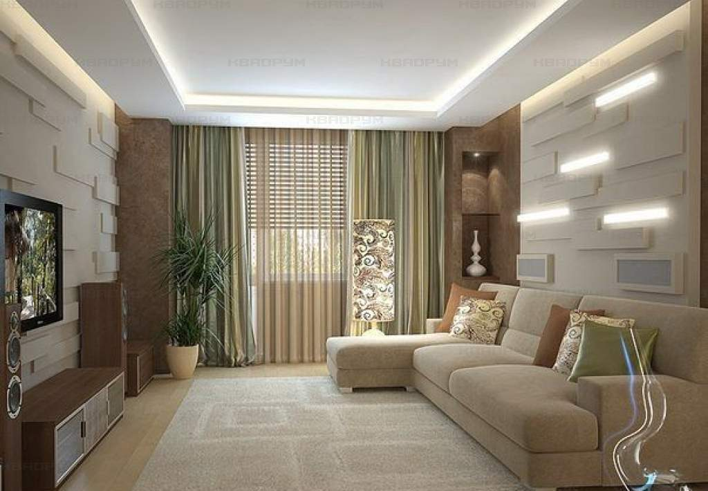 Living room design 18 meters - home decoration.
