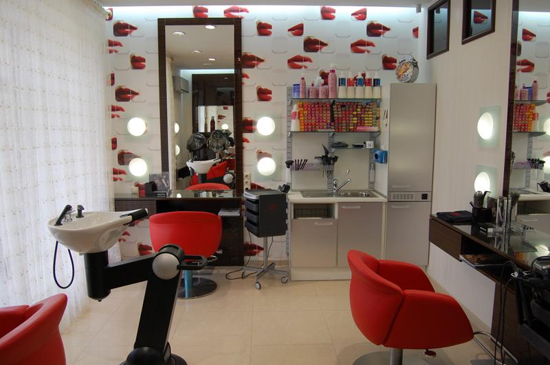 Интерьер парикмахерских салонов фото