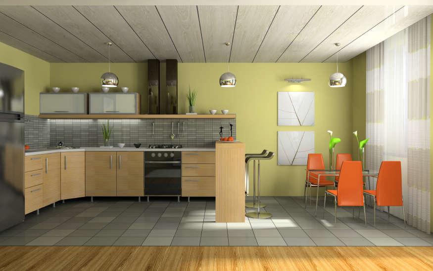 Дизайн потолков из пластиковых панелей для кухни