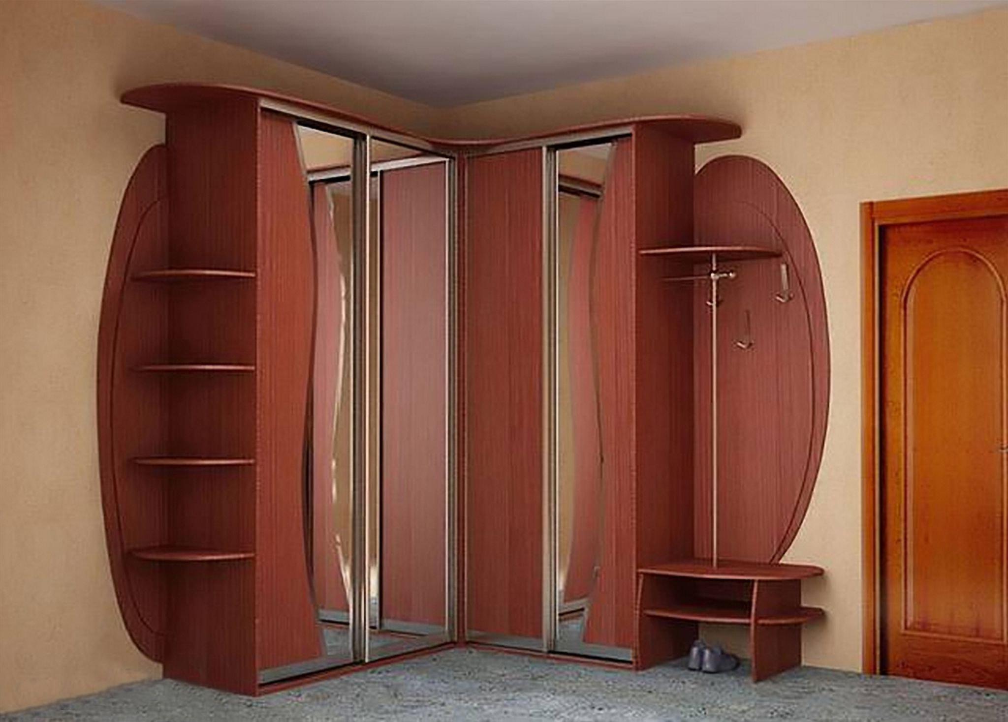 Встроенный угловой шкаф в прихожую дизайн