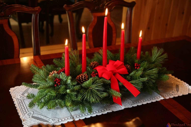 Новогодние украшение на стол своими руками