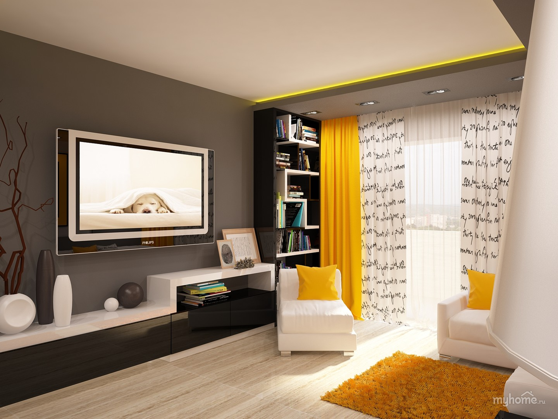 Фото дизайна маленького зала в квартире