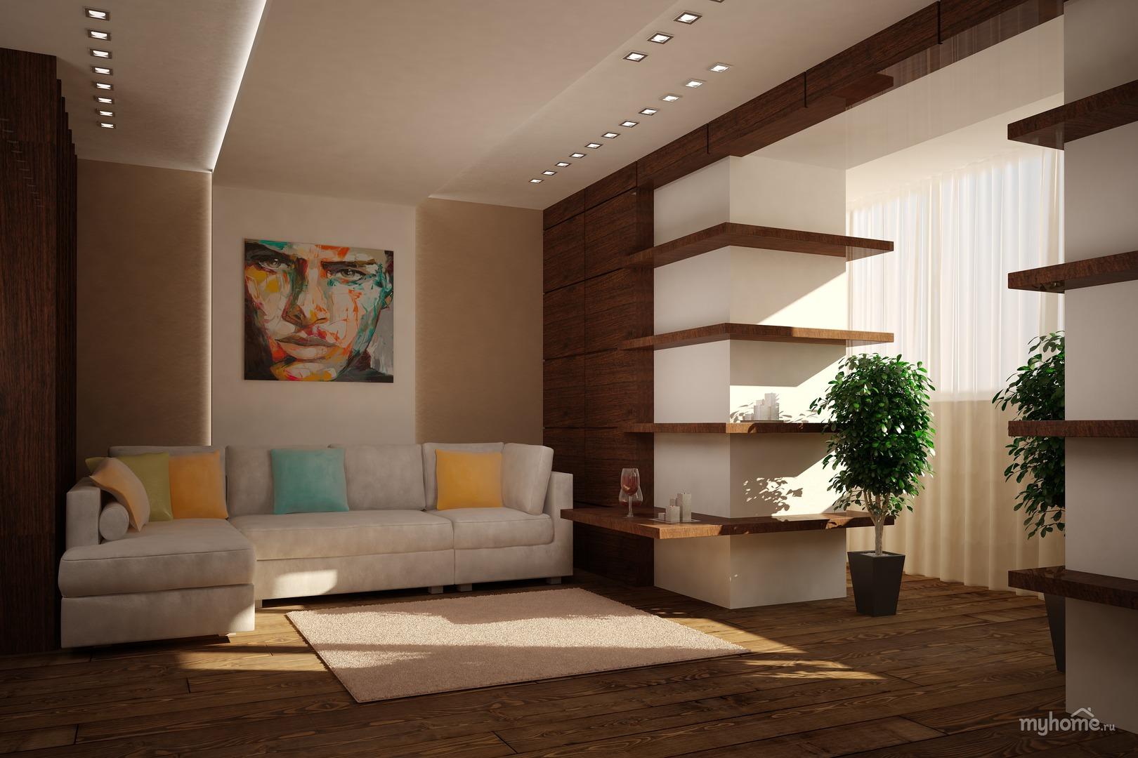 Гостиная, цвет белый в стиле минимализм - фото и дизайн на v.
