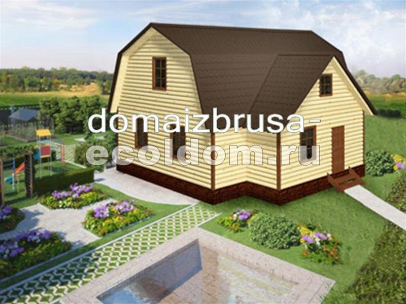 Пристройки к деревянному дому с ломаной крышей 90