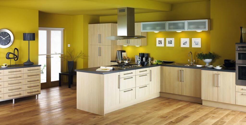 Дизайн стен кухни цветов