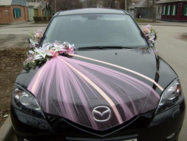 Сделать свадебное украшение для машин