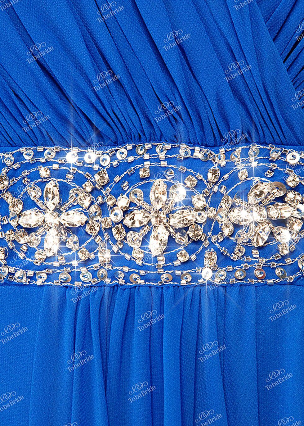 Как украсить синее платье своими руками