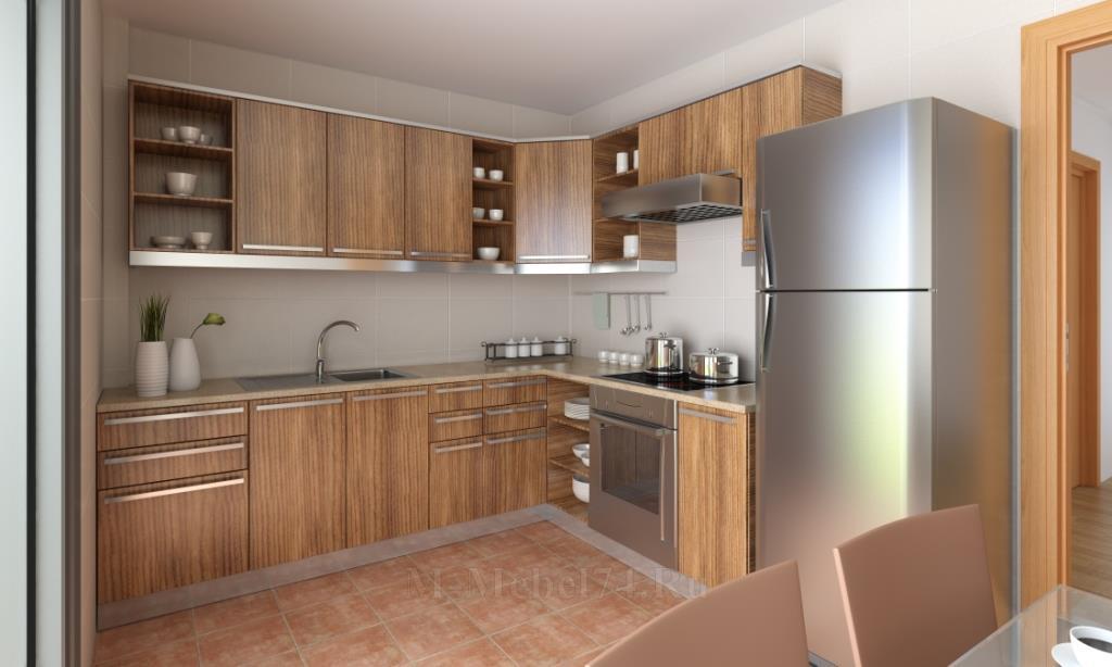 Угловые кухни дизайн с холодильником