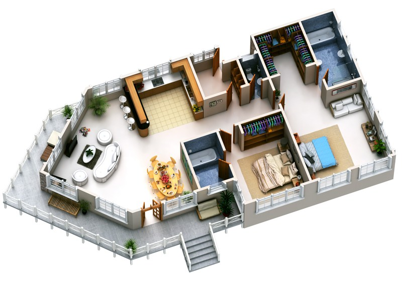 Small Modern House Designs And Floor Plans. Small House Plans Flat ...
