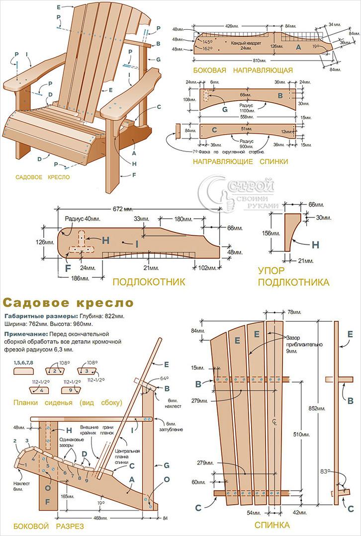 Кресло складное из дерева фото чертежи и ход работы